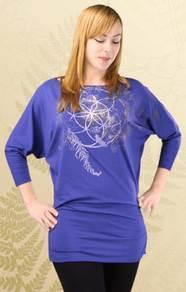 'Medicine Wheel' Glider Dress- Iris Blue