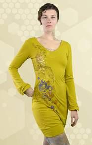 'Hive Mind' V-Neck Dress